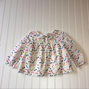 babyGap baby girl long sleeve peasant blouse